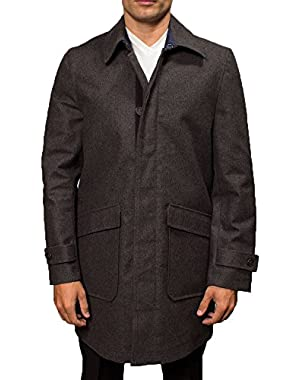 Men's Zip Front Stadium Coat
