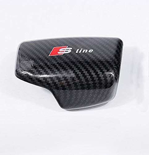 Carbon Fiber Gear Shift Knob Cover Sticker Head Trim for Audi A4/A5/A6/A7/A8/Q5/Q7/S4