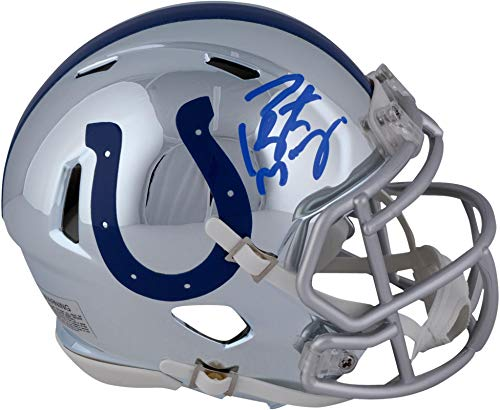 Peyton Manning Indianapolis Colts Autographed Riddell Chrome Alternate Speed Mini Helmet - Fanatics Authentic Certified