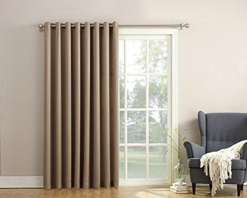 Cheap  Sun Zero Barrow Energy Efficient Patio Door Curtain Panel,Mocha Brown,