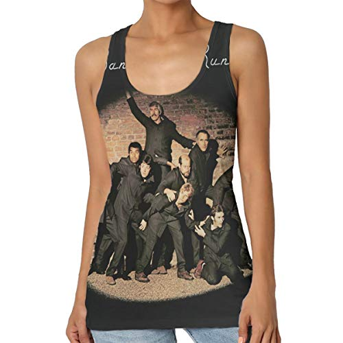 HuiXieJian Paul McCartney Band On The Run Women's Classic Sleeveless Tank Top T-Shirt M Black