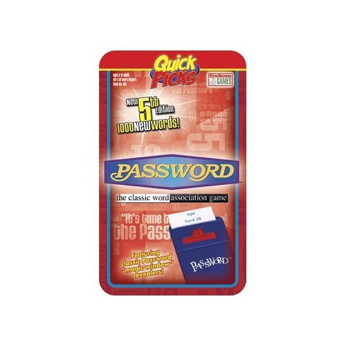 Endless Games Password Quick Pick Game in Travel Tin (Game Pick Quick Tin)