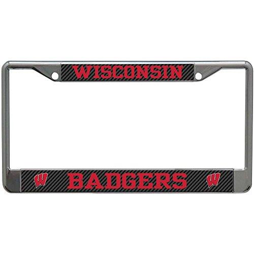 Stockdale Wisconsin Badgers Metal License Plate Frame - Carbon - License Wisconsin Frame Plate Badgers