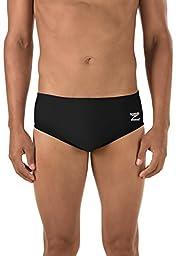 Speedo Men\'s Endurance+ Solid Brief Swimsuit, Black, 32