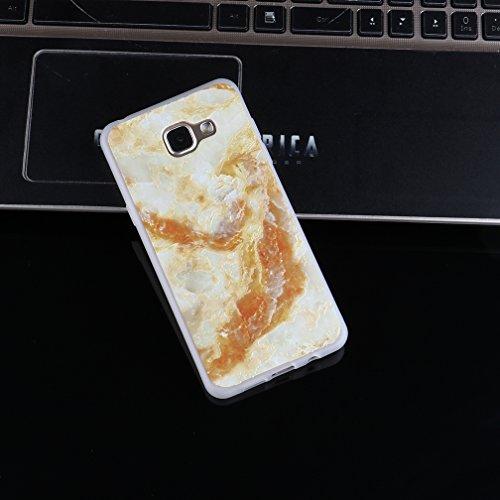 Funda Samsung Galaxy A3 2016 SM-A310F,XiaoXiMi Carcasa de Silicona TPU Suave y Esmerilada Funda Ligero Delgado Carcasa Anti Choque Durable Caja de Diseño Creativo - Mapa Mármol