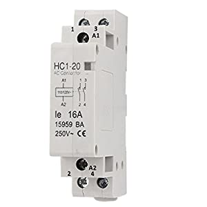 uxcell® 110-120V Coil Volt 16A Double Pole Electric Power AC Contactor Block