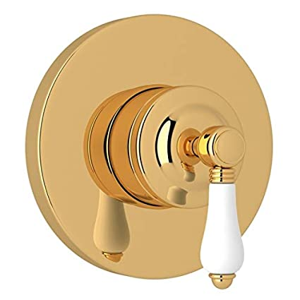 Polished Nickel Rohl A2700NLPPNTO Kit Trim Package for Country Bath Four Port Three Direction Diverter Trim Only New Style with Porcelain Lever and Sleeve
