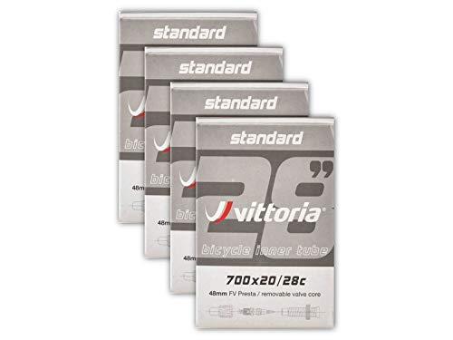 Vittoria Inner Tube Bundle 700x20-28c Presta 48mm, 4-Pack