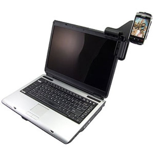 Amzer Laptop Mobile Connect with Custom Holder for BlackBerry Storm 9530/9500 - Black