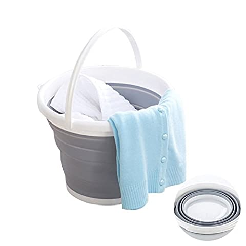 Folding Buckets Camping Car Cleaning Tools Accessories Outdoors Washing Go Fishing Bucket Household - Folding Candy Pail