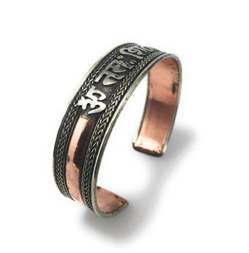 (Handmade Tibetan Three Metal Healing Mantra Yoga Bracelet (Om Nama Shivaye 2) )