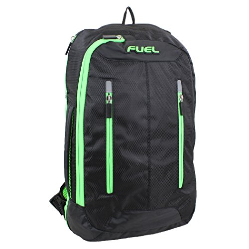 Fuel Universal Single Strap Crossbody, Black with Green