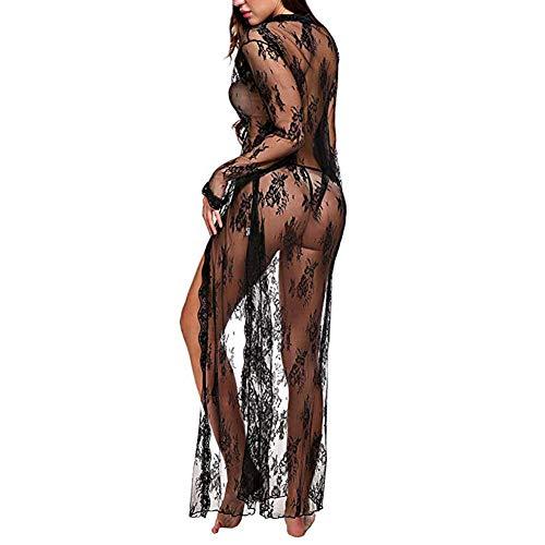 notte Fiore Trasparente da sexy Pizzo donna notte Abito Lingerie per da Camicia Abito da donna lungo 4qvRwX4t