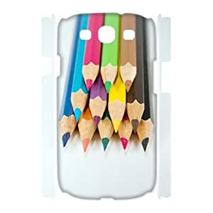ALICASE Cover Case Colored Pencil 3D Diy For Samsung Galaxy S3 I9300 [Pattern-1]