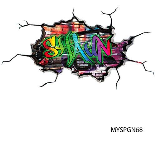 MySticky Vinyl Graffiti Wall Decal + Custom Text | 3D Sticker | -