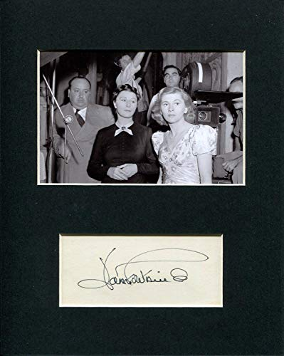 Joan Fontaine Oscar Winner Signed Autograph Photo Display With Alfred Hitchcock from HollywoodMemorabilia
