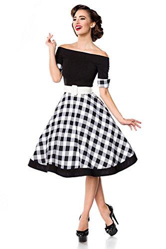 Mujer Belsira Vestido blanco Para Negro xqcwngYUv1