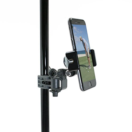 Golf Gadgets - Record your Putts on the Green From the Pin/Golf Flag Pole with This Universal Smartphone Mount. Compatible with any Phone, or GoPro Hero 4. (Grey) by Golf Gadgets