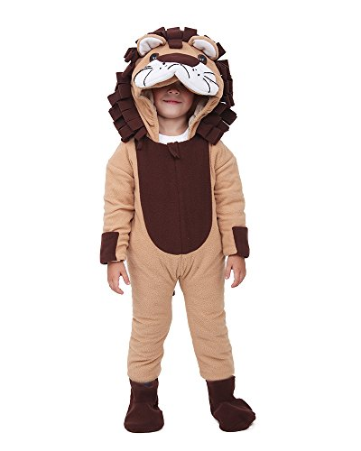 [Miccostumes Kids Little Lion King Halloween Cosplay Mascot Costume (Brown)] (Lion King Halloween Costumes)
