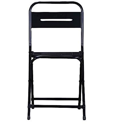 Merveilleux Stylish Folding Iron Chair In Black