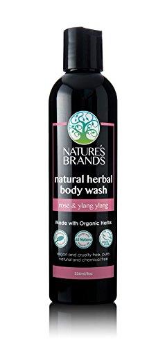 - Herbal Choice Mari Organic Herbal Body Wash, Rose & Ylang Ylang; 8floz