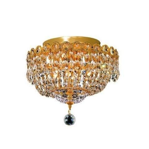 Fleur Illumination 4 light Gold Flush Mount Gold, swarovski elements crystals