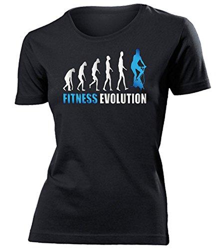 FITNESS EVOLUTION mujer camiseta Tamaño S to XXL varios colores Negro / Azul