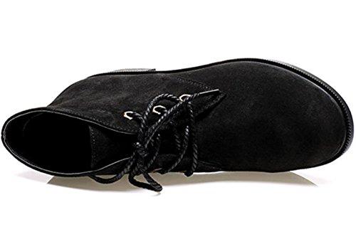 KUKI fallen Frauen Stiefel Martin Stiefel Retro Stiefel Freizeitschuhe billige Frauen Stiefel black