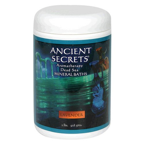 Ancient Secrets Mineral Baths, Aromatherapy Dead Sea, Lavender, 32 oz (2 Lbs) 908 G (Pack of 2)
