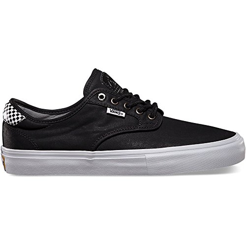 Vans Chima Pro Skate Shoe - Men's  Black/Checkers, 11.5