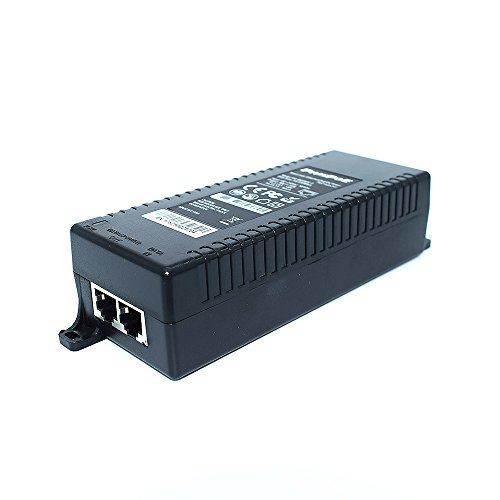 PLUSPOE Gigabit Power over Ethernet Plus (PoE+) Injector, Converts non-PoE Gigabit to PoE+ or PoE Gigabit, 35Watts, Network Distances up to 100 M (328 Ft.) (Gigabit PoE+ / 35W) by PLUSPOE (Image #1)'