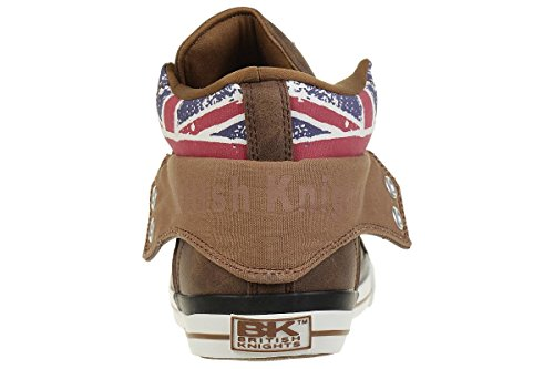 British Knights Roco BK Men Trainer Sneaker British Flag B41-3709-14 Cognac