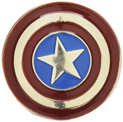 (Marvel Captain America Colored Pewter Lapel Pin)