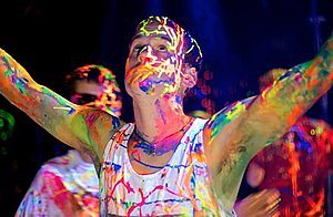 5-Gallon Washable Neon Uv Glow Paint - Yellow by Paint Party Supplies (Image #6)