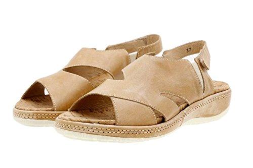 Semelle Confortables Amovible Chaussure Amples Sandales À Cuir Beig 1903 Confort Femme En Piesanto vwTq8