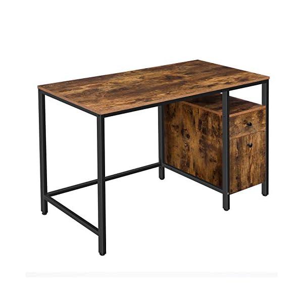 HOOBRO Bureau, Table Informatique, Table d'Ordinateur, avec Tiroir et Placard de Rangement, Poste de Travail de Style…