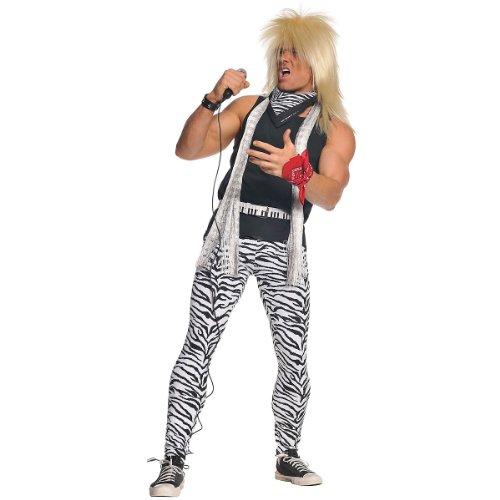 Underwraps Men's Plus-Size 80's Rocker, Zebra/Black, (Glam Rock Costume Men)