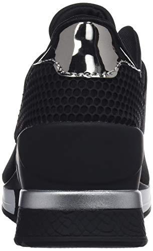 Negro Mare lotus Mujer lycra 62157 espejo C43663 Para Negro textura Maria Plomo Negro Zapatillas Negro 2 Sfn04qdU