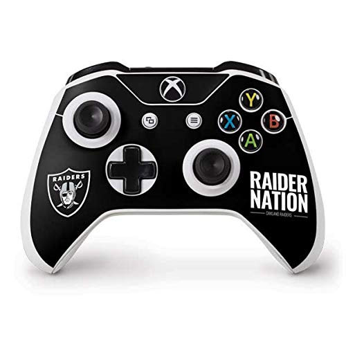 Skinit Oakland Raiders Team Motto Xbox One S Controller Skin - Officially Licensed NFL Gaming Decal - Ultra Thin, Lightweight Vinyl Decal Protection