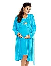 Zeta Ville Maternity - Womens Nursing Nightdress Robe Set Labour Hospital 384c