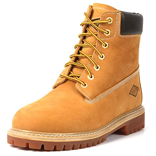 "(6"" Men's Soft Toe Work Boots – Stylish Leather Work Boots - Lace Up, Oil And Slip Resistant Boots With Rubber Outsoles (10))"