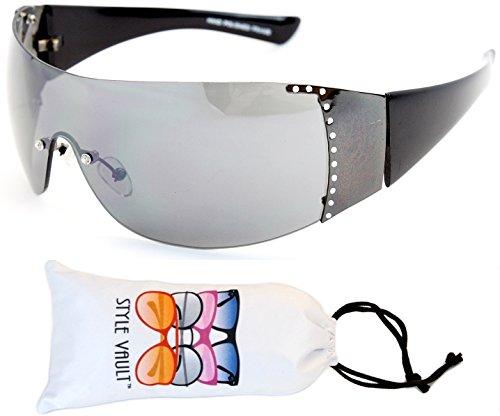 V190-vp Style Vault Turbo Designer Sunglasses (B1663F Gunmetal/black-dark)