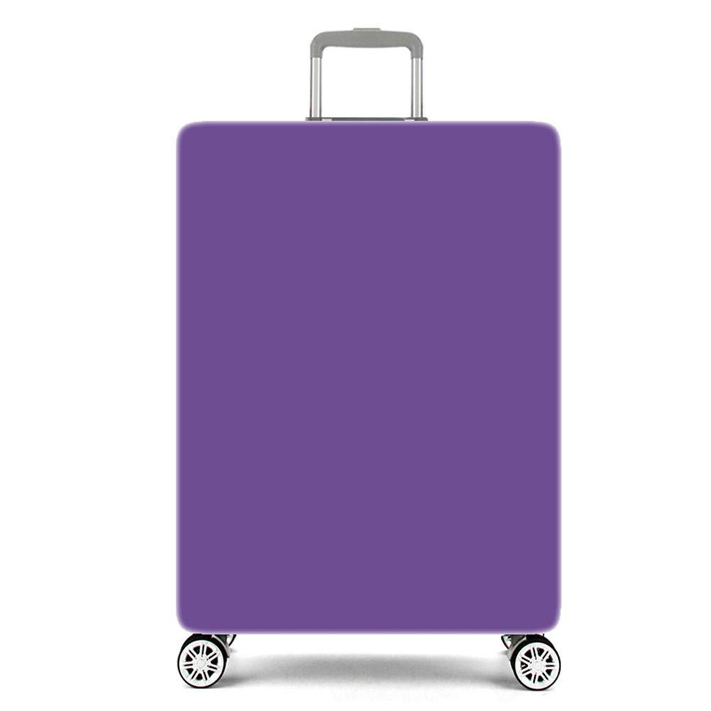Luggage Cover Travel Suitcase Protector Elastic Dust proof Bag Protective Trolley Suitcase (Light purple, L:26~28 Inch)