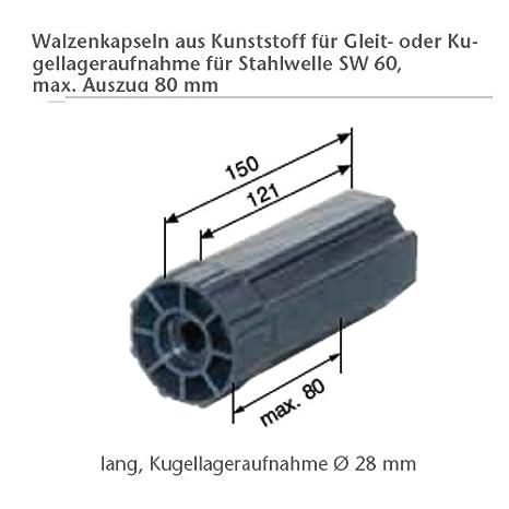 28mm Kugellager mit Stahlinnenring und Aufschraublager aus Druckgu/ß smarotech/® Maxi Gegenlager-Set f/ür Achtkanntwelle SW 40mm inklusive Walzenkapsel Mini Set Typ 40mm Stahl-Lagerschaleinnenring