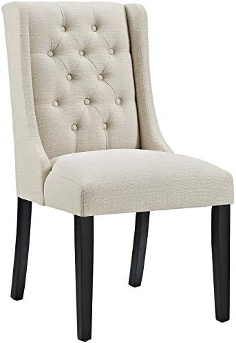 Modway Baronet Modern Tufted Upholstered Fabric Parsons Kitchen And Dining Room Chair In Beige Chairs