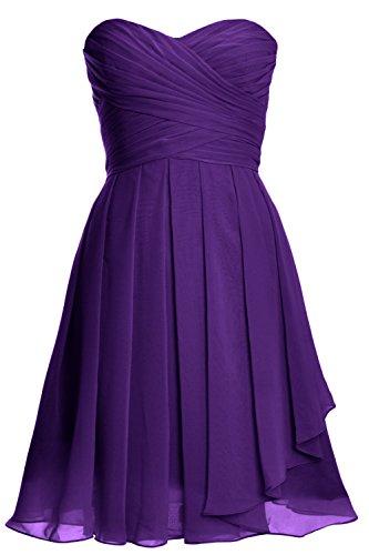 Vestito Senza Donna maniche a linea MACloth Purple ad FdTFq
