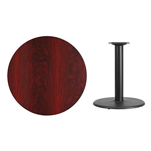 Flash Furniture 36'' Round Mahogany Laminate Table Top with 24'' Round Table Height Base by Flash Furniture