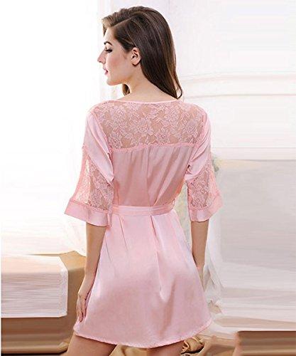pijamas camisón de la ropa interior del verano pijamas de seda de hielo pieza ajustada f