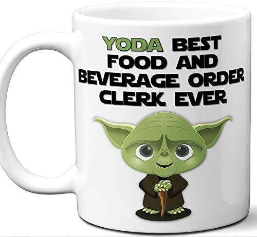 Funny Gift For Food And Beverage Order Clerk. Yoda Best Employee Ever. Cute, Star Wars Themed Unique Coffee Mug, Tea Cup Idea for Men, Women, Birthday, Christmas, Coworker. ()