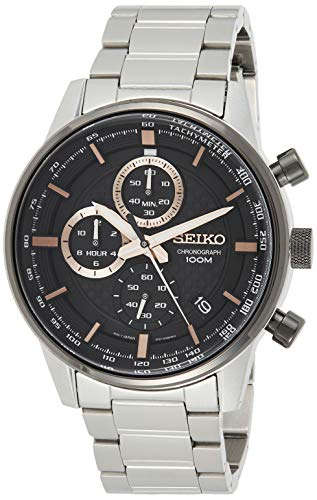 Seiko Unisex Adult Chronograph Quartz Watch with Stainless Steel Strap SSB331P1